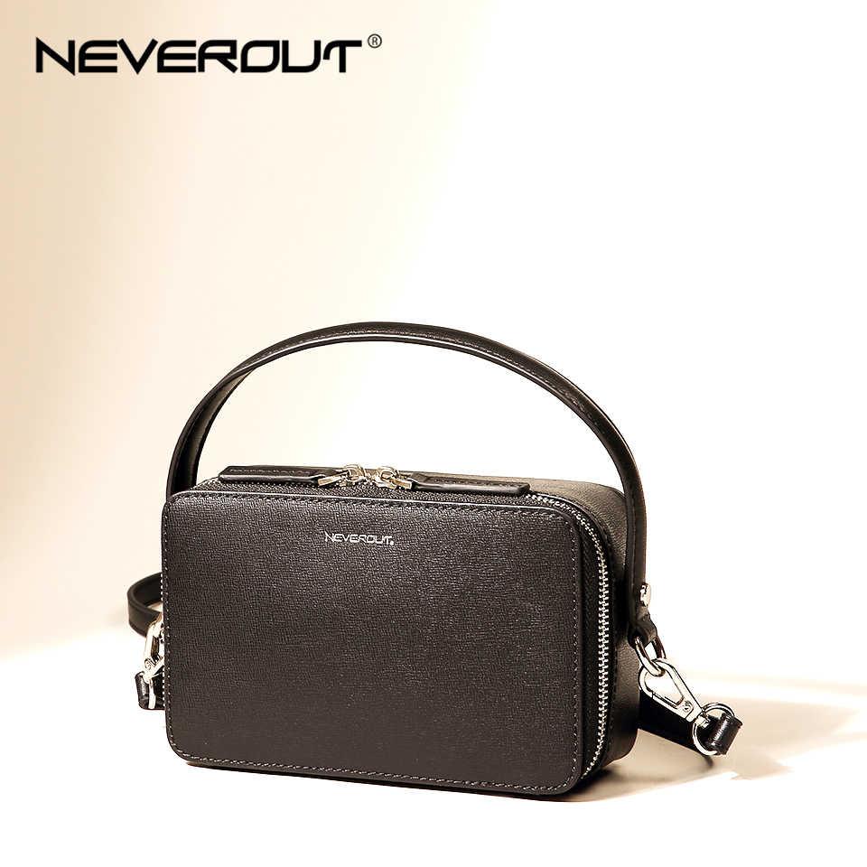NEVEROUT Brand Small Handbag for Women Split Leather Shoulder Crossbody Bag  with Handle Ladies Zipper Flap 10c73717371ed
