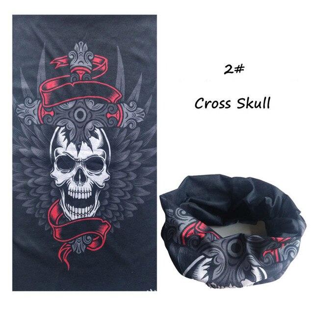 Halloween de la bufanda de la cabeza cráneo máscara de la boca de magia turbante diadema velo pañuelo