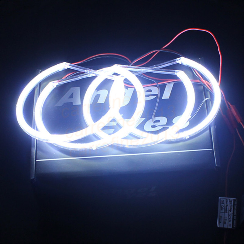 2*131MM+2*146MM led cob angel eyes for bmw e46 non projector headlamp white e46 cob angel eyes halo rings DRL car-styling lamps car styling 131mm 4 led cob angel eyes halo rings kit for bmw e46 e39 e38 e36 3 5 7 series daytime runing lights drl retrofit