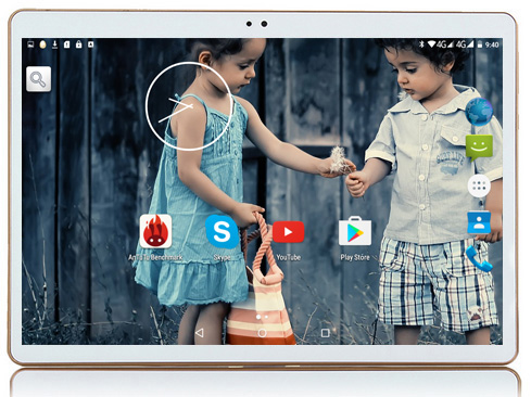 2018 Octa Core 10 Cal Tablet komputer tabletu z systemem Android 4 GB pamięci RAM 64 GB ROM Dual SIM Bluetooth GPS Android 7.0 10 Tablet PC k107 w Tablety Android od Komputer i biuro na AliExpress - 11.11_Double 11Singles' Day 1