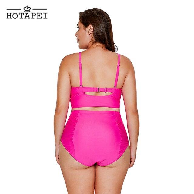 Black Strappy Neck Detail High Waist Bikini 3