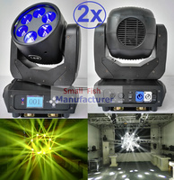 2 xlot Супер луча движущихся 6x25 Вт белый светодиодные лампы луч Wash DJ освещение этапа 12/20 DMX Каналы привет Качество Лидер продаж 135 Вт Новый Дизай
