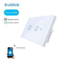 New Ewelink App US Type 2 Gang Wall Light Wifi Switch Touch Control Panel Wifi Remote