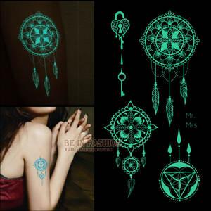 baa5b96d3 one piece shiny luminous temporary tattoos stickers for arm