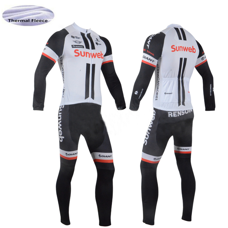9808def97 2018 Winter Fleece no Fleecec SUNWEB Men long sleeve bike jersey set ropa  ciclismo MTB cycling clothing