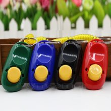 Pet Dog Click Clicker Training Obedience Agility Training Aid Wrist Strap New(China)