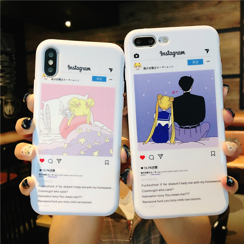 Active Cute Cartoon Sailor Moon Magic Stick Glitter Sequins Phone Case For Iphone X Xr Xs Max 6 6s 7 8 Plus Soft Tpu Back Cover Case Attractive And Durable Phone Bags & Cases Fitted Cases