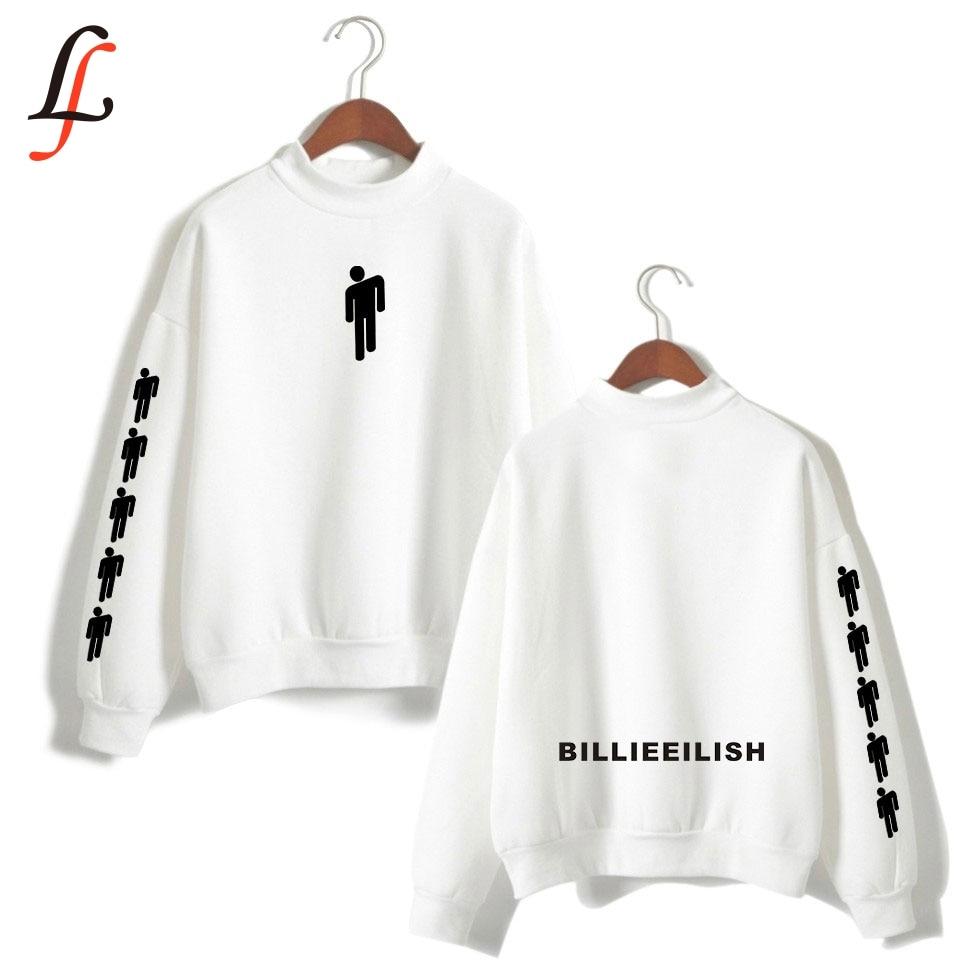 Billieeilish Billie Eilish Women Turtleneck Hoodies Sweatshirts Kpop Casual Outwear Hip-Hop Bangtan Boys Streetwear Clothes