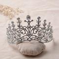 Women tiara Austrian rhinestone crown hair jewelry queen diadem Bridal Wedding Hairwear party marriage accessories