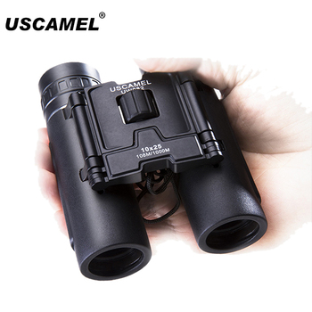 USCAMEL 10x25 Compact Binoculars Folding HD FMC Optics