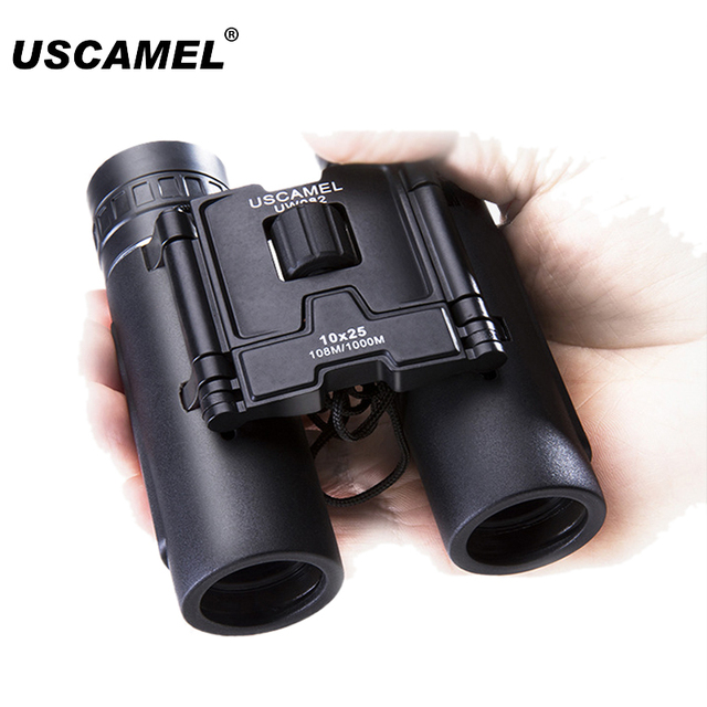 USCAMEL 10x25 Compact Binoculars Folding HD FMC Optics