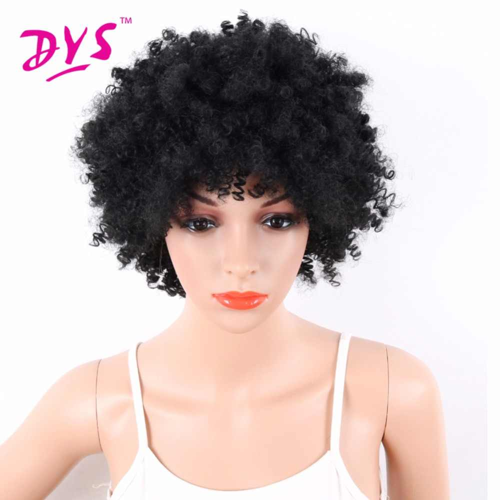 deyngs short curly wigs for black women hairstyles afro synthetic wigs for african american women natural hair wig pixie cut