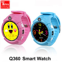 Q360 Child smartwatch GPS WIFI Location SOS Anti-Lost Monitor Tracker baby WristWatch with Camera PK Q528 Clock Kid Smart Watch(China)