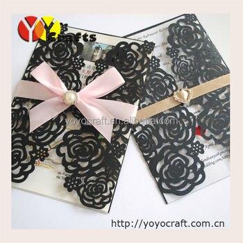 Rose birithday party invitations wedding supply laser cut Wedding Invitation Cards