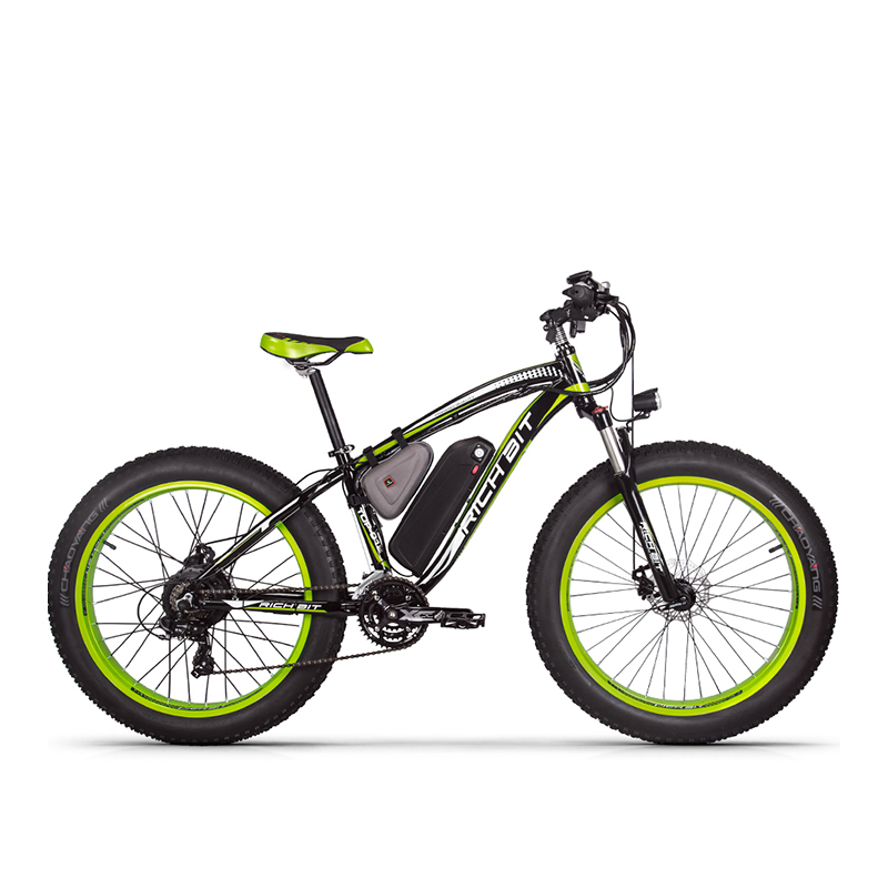 RichBit RT-012 Plus 21s Electric Bike With Computer Speedometer electric Odometer Powerful Electric MTB Bike 17AH 1000W eBike