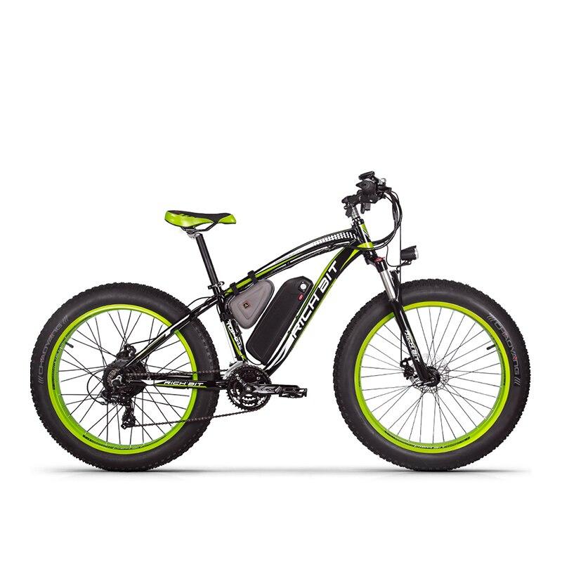Richbit RT-012 más 21 s bicicleta eléctrica con velocímetro eléctrico odómetro potente eléctrica MTB 17AH 1000 W ebike