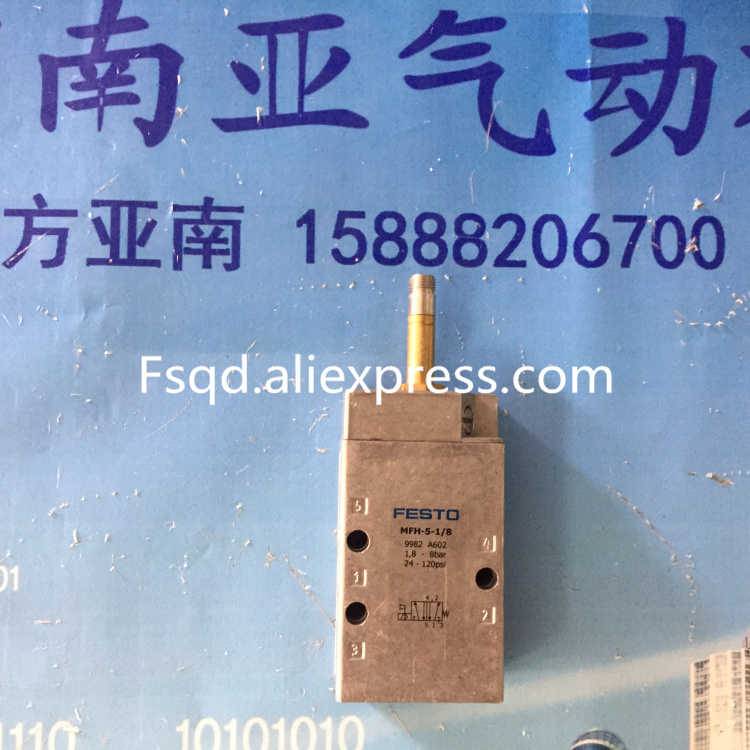 MFH-5-1/8 9982  New and original FESTO solenoid valve mfh 5 1 4 6211 pneumatic solenoid valve mfh 5 1 4 series 6211 without coil