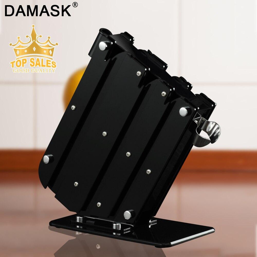 Damask Knife Holder Large Capacity Stainless Steel Kitchen Knife Stand Multifunctional Knife Block Sooktops Shelf Knife Holder