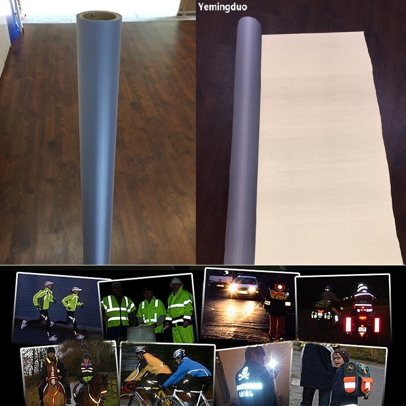 1M*1M Reflective Chemical Fabric Warning Reflective Safety Fabric Reflective Tape Garment Accessories Reflective Cloth