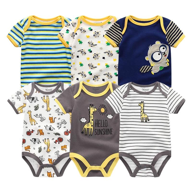 HTB1XbR7KbGYBuNjy0Foq6AiBFXaT 2019 6PCS/Lot Unisex Unicorn Baby Boy Clothes Cotton Kids Clothes Newborn Rompers 0-12M Baby Girl Clothes Roupa de bebe