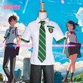Ohcos anime seu nome anime wa kimi no na sua nome Tachibana Taki Cosplay Trajes Miyamizu Mitsuha Cosplay Escola dos homens Unifor