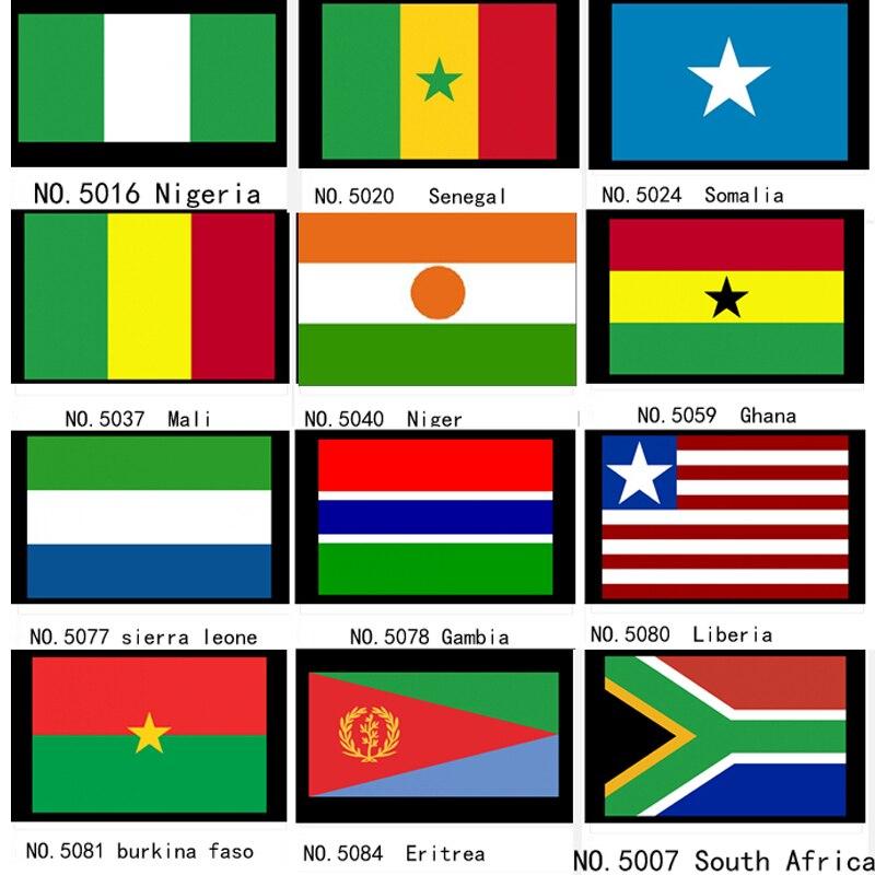 Nigeria Senegal Somalia Mali Niger Ghana Sierra Leone Gambia Liberia Burkina Faso Eritrea National Flag Banner 21*14cm ...