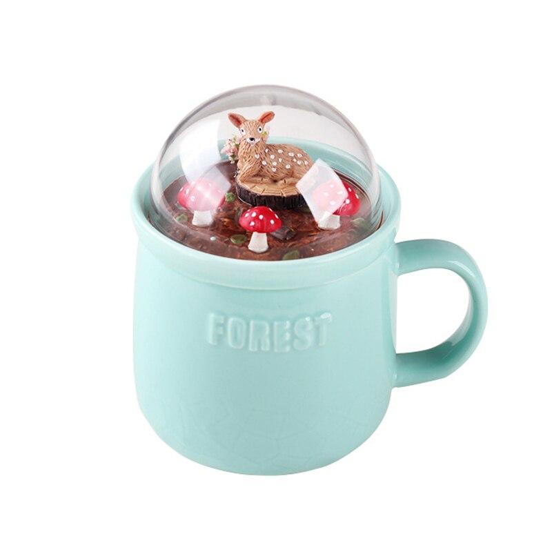 Wholesale 2018 Creative Cartoon Animal Micro Landscape Caneca Milk and Coffee Mug 400mlHigh-capacity Office Ceramic Cups Gifts