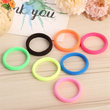 10pc Candy Colored Head Rope Elastic Hair Bands Rubber Bands Quality Hair Accessories Donut Grip Loop Holder Stretchy Hair Clip