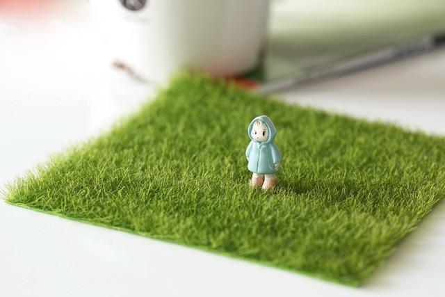 15cm Simulation Square Grass home decor Moss miniature fairy garden decoration accessories shooting DIY tool figurine figure 5