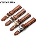 CHIMAERA Genuine Kalb Armband 18mm 19mm 20mm 21mm 22mm 24mm Uhr Band Lederband für Omega Breitling Tissot Seiko Uhr