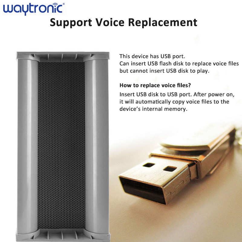 ire Public Broadcasting Outdoor Amplifier Speaker Loudspeaker with USB Connector Microwave Detecting Loud Voice