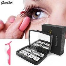 Genailish  Handmade Makeup Tool Eye Lashes Magnetic 6D False Eyelashes Natural Long Magnet Acrylic Box SCT-2