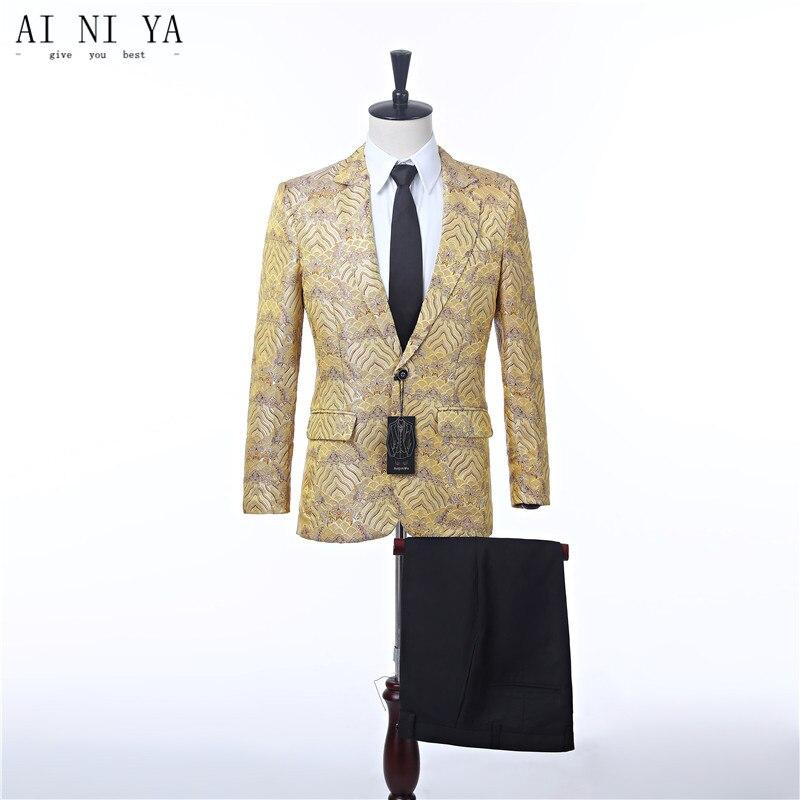 Новый Дизайн Для мужчин; Нарядные Костюмы для свадьбы Slim Fit Мужские костюмы пиджак жениха свадебное платье ужин Пром комплект из 2 частей в к