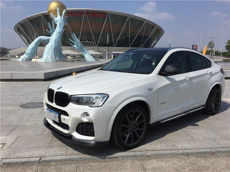 2015+ F26 X4 M-sport Front Lip --3D STYLE  CARBON FIBER Front Lip FOR BMW-F26 X4 M-sport bumper use only! diffuseur arrière carbone bmw x4 f26