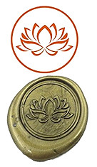 Lotus font b Custom b font Logo Luxury Vintage font b Wax b font font b