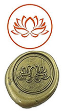 Lotus Custom Logo Luxury Vintage Wax Seal Stamps Kit Wedding Invitation Sealing Stamps
