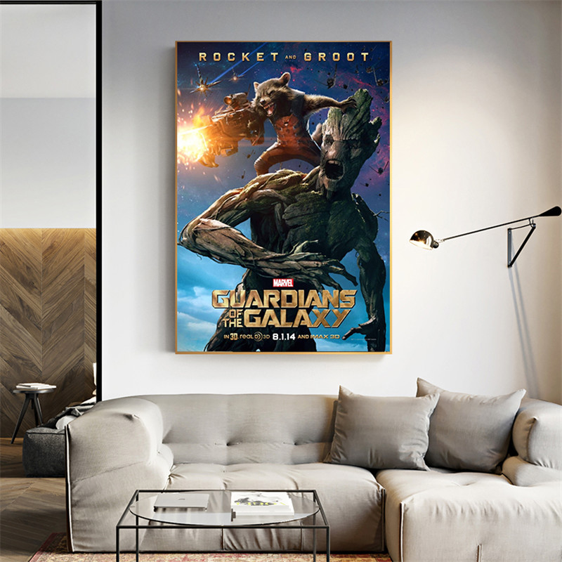 Guardians of the Galaxy Posters and Prints Canvas Art Wall Pictures Living Room Kids Bedroom Decoration Vintage Style