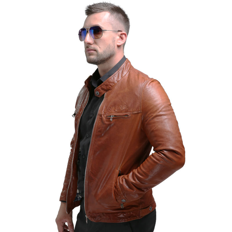 AIBIANOCEL Brand New Lederjacke Winter Echtes Leder Herren Jacke - Herrenbekleidung - Foto 4