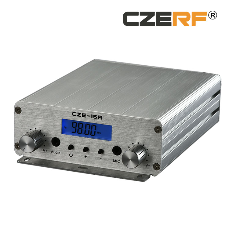 Free Shipping CZE 15A 15w 76 To 92 MHz Wireless Stereo FM Transmitter For Station Broadcasting In Radio TV Broadcast Equipments From Consumer Electronics
