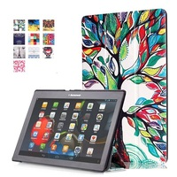 3 In 1 Colorful PU Leather Case Flip Cover Case For Lenovo Tab 2 Tab2 A10