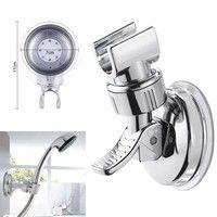 Gümüş duş başlığı tutucu banyo duvarına monte emme braketi vantuz duş tutucu banyo aksesuarı