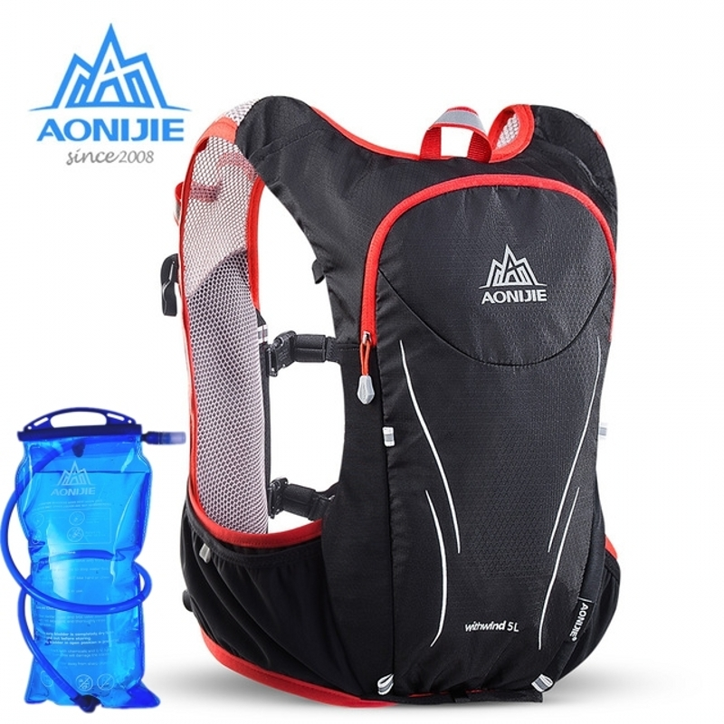 Outdoor Sports 5L Hydration Backpack Rucksack Bag For 1.5/2L Water Bladder Hiking Camping Running Marathon Race Sports