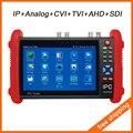 7 Pulgadas IPS HD 6 EN 1 Probador de La Cámara Del Probador Del CCTV IP IP/Analógico/HD-TVI/HD-CVI/AHD/SDI con IP descubrimiento Rápida/ONVIF/POE IPC-9800ADHS