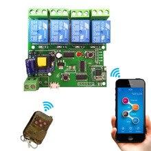 Sonoff Smart Пульт дистанционного Управления DIY дистанционного Беспроводной переключатель uni V ersal модуль 4ch DC 5 В 12 В 32 В 220 В переключатель Wi-Fi таймер для умного дома