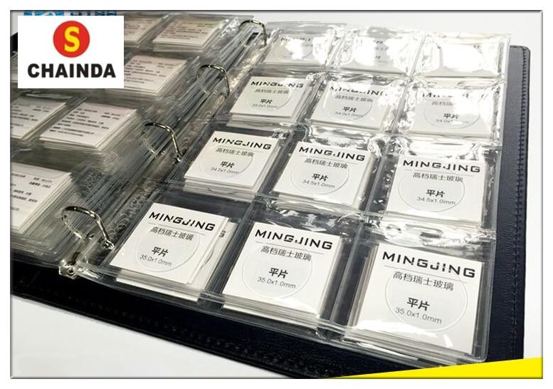 купить Free Shipping 1 Set 1.0mm Thick Transparent Flat Round Mineral Watch Crystal for Watch Repair по цене 2713.1 рублей