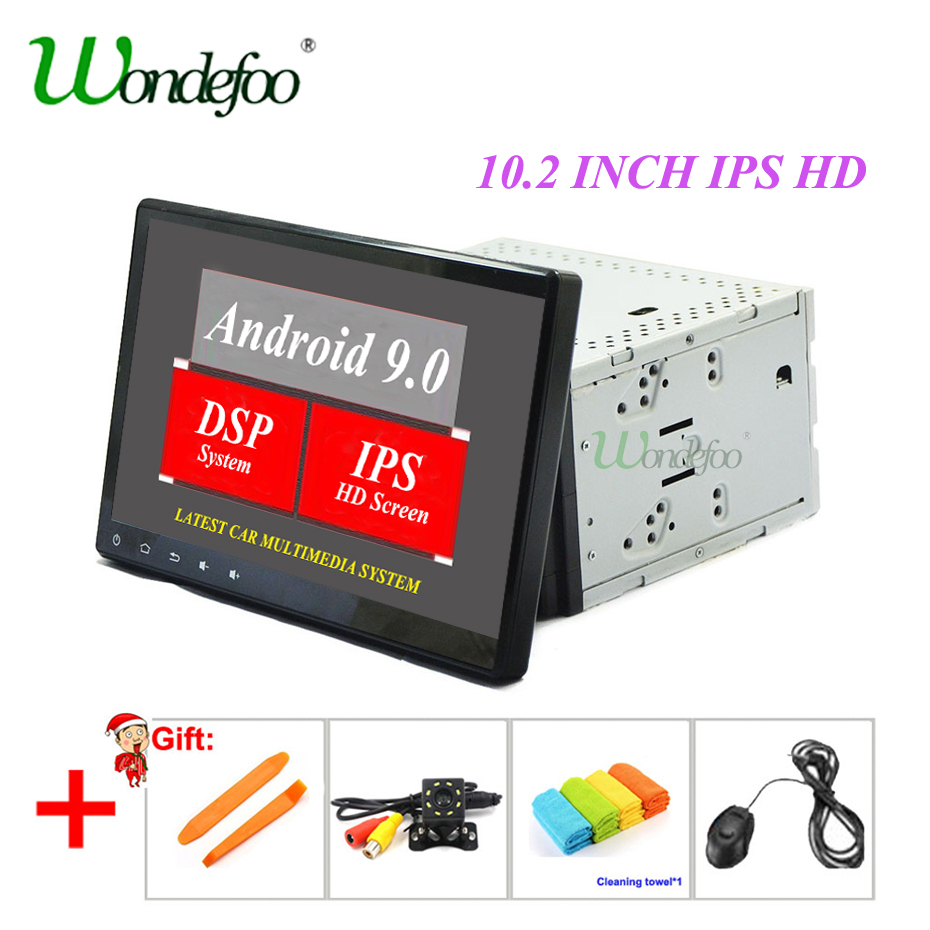 DSP IPS 10.2'' Universal Car Multimedia Player GPS 2 din Android 9.0 For Volkswagen/VW/TOYOTA/NISSAN car dvd Radio Audio stereo