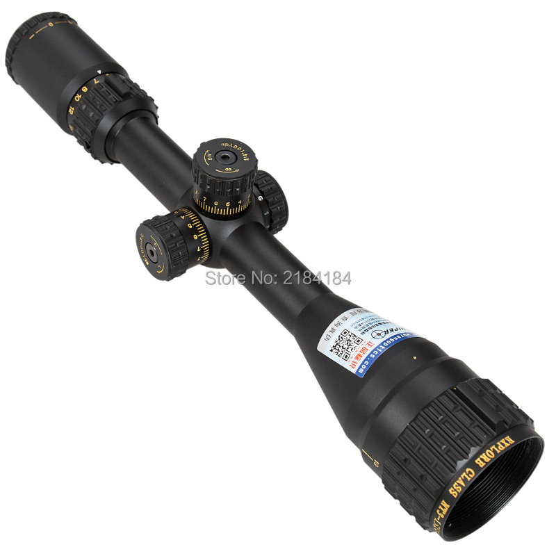 SNIPER NT 3-15X44 AOGL Hunting Rifle Scope Side Parallax Adjustment Glass Etched Reticle RG Illuminated with Bubble Level
