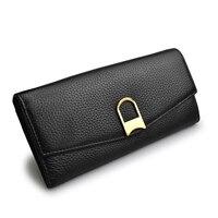 Beth Cat Design Fashion Genuine Leather Wallet Women Purse Female Clutch Wallets Ladies Cowhide Long Cellphone