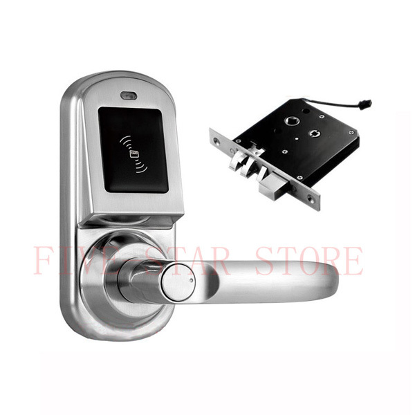 new simple design ic card electronic handle door lock with