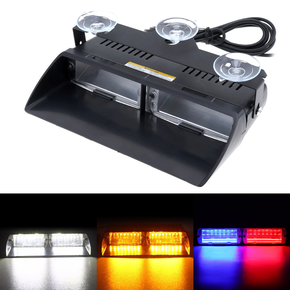 Dc12v 16 Led 48w Red Blue Yellow White Car Viper S2 Signal
